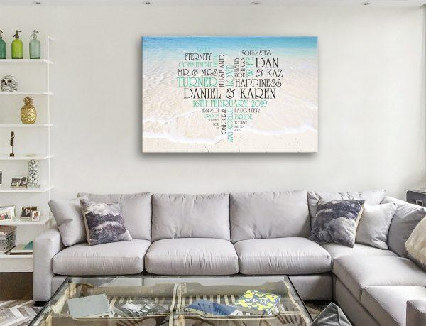 Personalised word Canvas Artwork