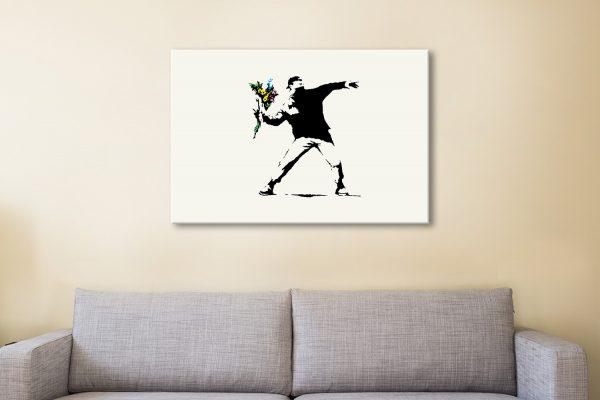 Rage Flower Thrower by Banksy Wall Art