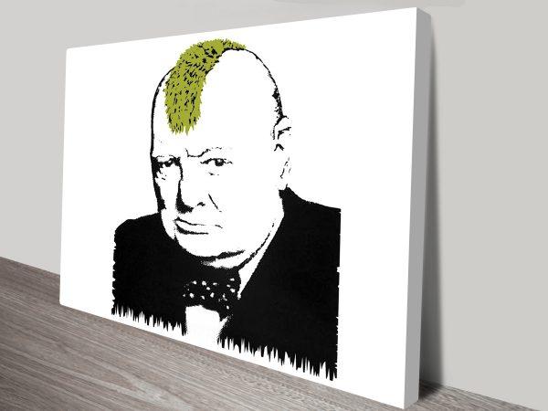 Banksy Churchill Turf War Wall Art