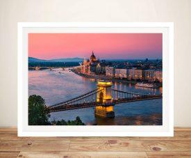 Buy Budapest Sunset Beautiful Canvas Art