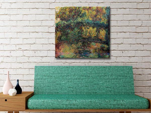 Buy The Japanese Bridge Monet Canvas Wall Art