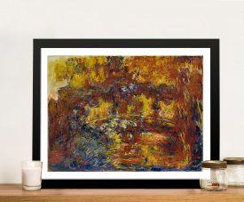 The Japanese Footbridge Framed Monet Wall Art