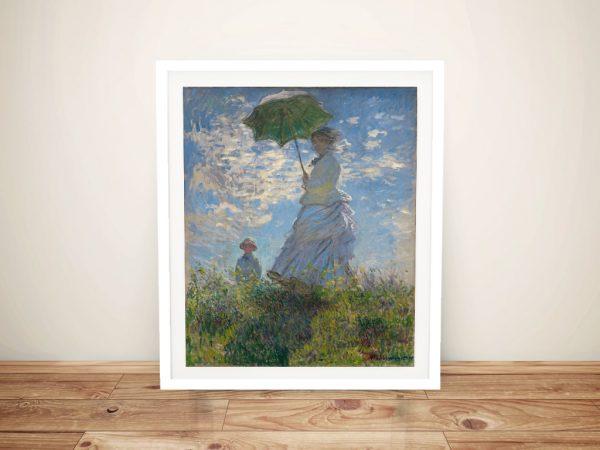 Buy Woman With a Parasol Monet Canvas Art