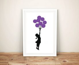 Buy Girl with Balloons Banksy Framed Wall Art
