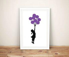 Buy Girl with Balloons Banksy Framed Wall Art