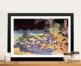 Hokusai Ocean Landscape Framed Wall Art