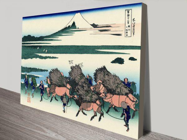 Ono Shindon in the Suraga Province Canvas Print