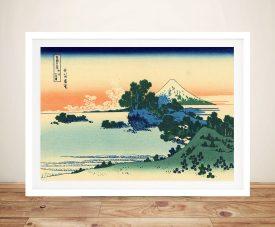 Buy Shirchiri Beach in Sagami Framed Artwork