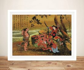 Buy Tametomo and the Demons Framed Wall Art
