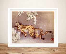 Buy A Print of Tiger in the Snow by Hokusai