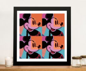 Mickey Mouse Pop Art Framed Warhol Prints