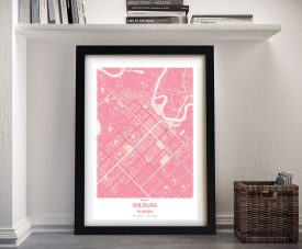 Mildura Pink Framed Wall Art
