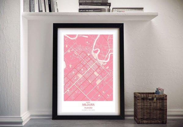 Mildura Pink Framed Wall Art