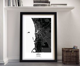 Perth City Street Map Wall Art