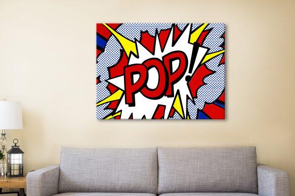 Buy Pop Comic Book Wall Art Print