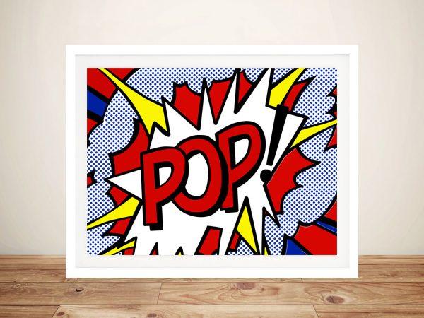 Pop Comic book Framed Wall Art