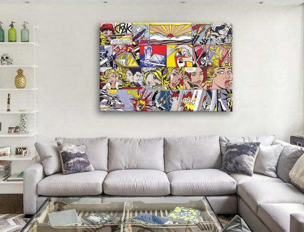 Buy Lichtenstein Collage Framed Art Gifts Online