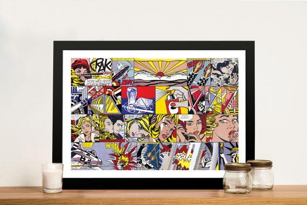 Buy Roy Lichtenstein Collage Framed Wall Art
