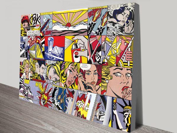 Buy Lichtenstein Pop Art Collage Cheap Art AU