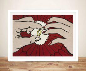 Buy Engagement Ring by Lichtenstein Framed Art