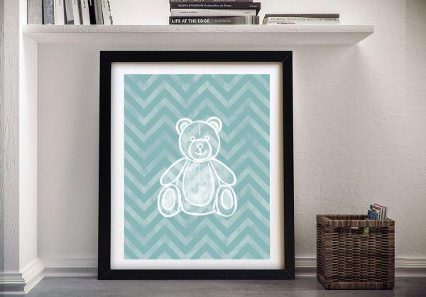 Buy Teddy Bear Framed Canvas Wall Art