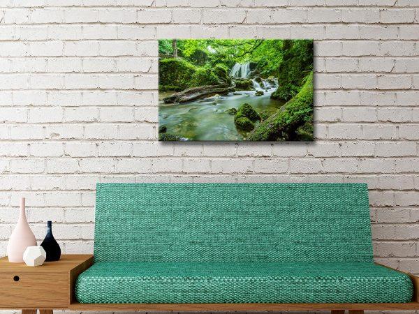 Buy Verdant Cascade Cheap Landscape Prints AU
