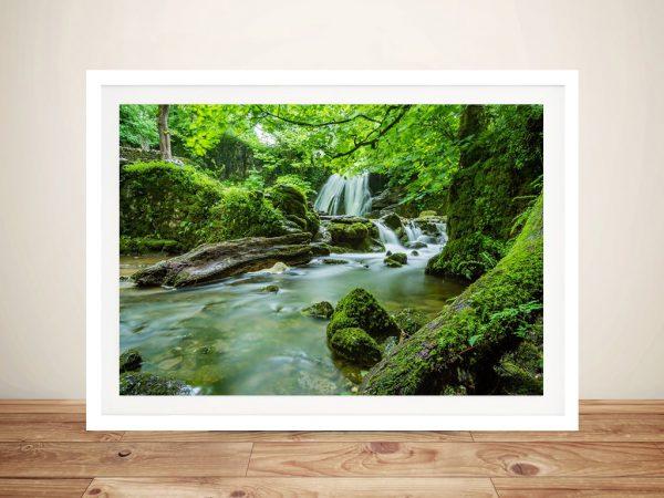 Buy Verdant Cascade Waterfall Framed Art