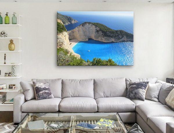 Paradise Bay Scenic Coastal Canvas Art AU