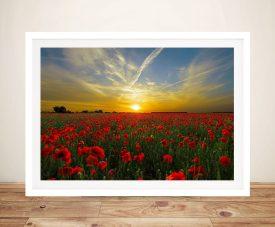 Buy Poppy Field Sunset Framed Canvas Art