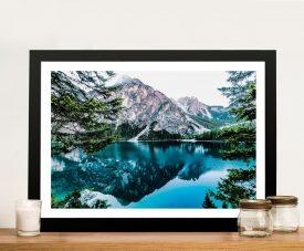 Mountain Reflections Landscape Framed Print