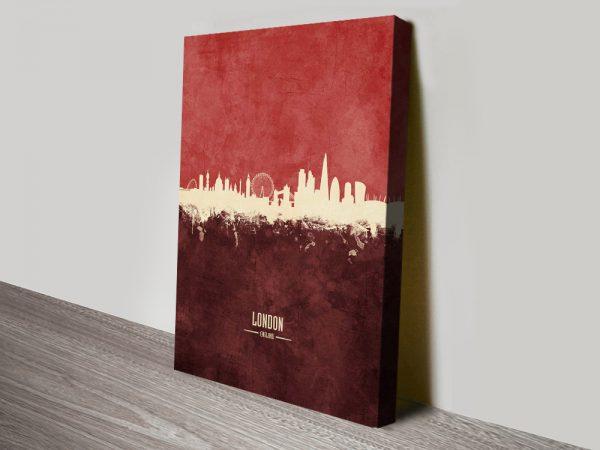 London Skyline in Red Discount Tompsett Art AU