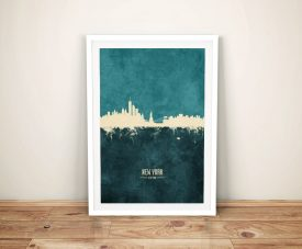New York Two-Tone Skyline Canvas Wall Art