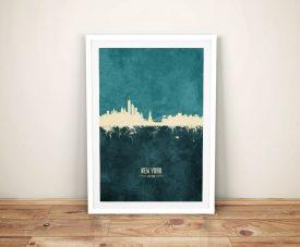 New York Two-Tone Skyline Canvas Wall Art