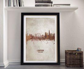 Buy London Skyline Watercolour Wall Art