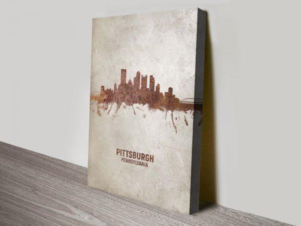 Michael Tompsett Pittsburgh Skyline Artwork