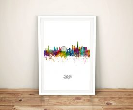 Buy Colourful London Skyline Framed Wall Art