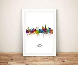Buy Colourful London Skyline Framed Wall Art
