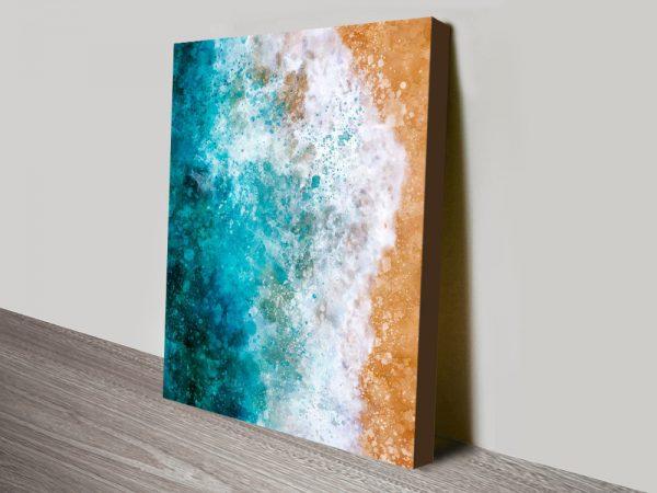 Buy Ocean Watercolour Canvas Art Cheap Online
