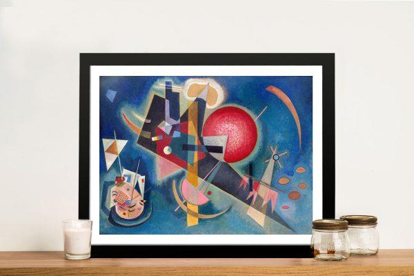 Buy Im Blau Framed Kandinsky Wall Art