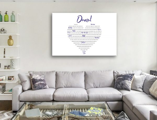 Buy Personalised Word Cloud Art Australia