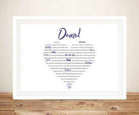 My Heart is Yours Word Cloud Art Typographic Artwork Gifts Online