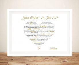 Custom heart shaped word art