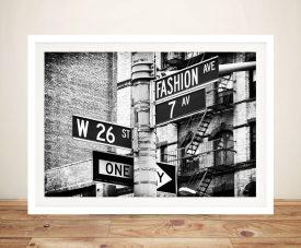 Buy a Canvas Print of Fashion Avenue by Hugonnard