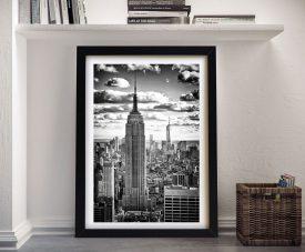 Buy Manhattan Cityscape a Hugonnard Canvas Print
