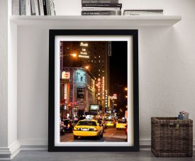 Buy Dazzling Canvas Wall Art of Broadway by Night