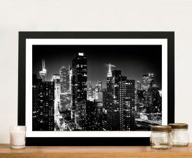 Buy a Manhattan Skyline Print in Black & White