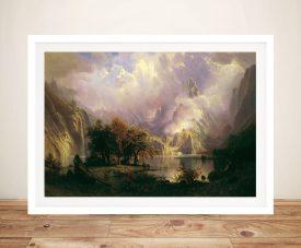 Buy Rocky Mountain Landscape Canvas Art