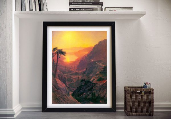 Buy a Canvas Print of Donner Lake by Bierstadt