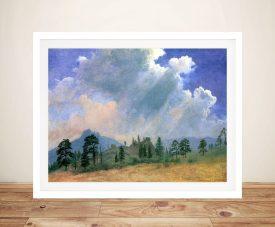 Buy Fir Trees & Storm Clouds Framed Wall Art