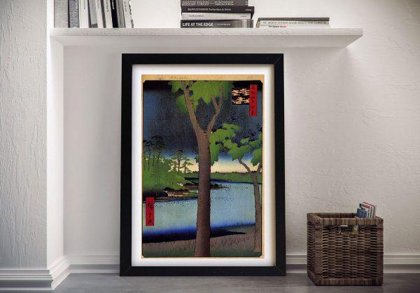Buy a Canvas Print Akasaka Kiribatake Japanese Art